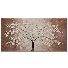 100% Handgemalt Acryl Gemälde handgemaltes Wand Bild Kunst Leinwand Glücksbaum