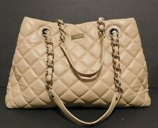 KATE SPADE NEW YORK Womens Gold Coast Maryanne Quilted Cream Handbag Purse $478