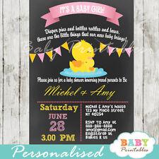 Rubber Duck Baby Shower Invitation for Girls - Printable Digital File