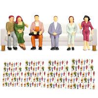 100x 1: 75-1: 200 Miniatures de personnages assis peints en forme de train