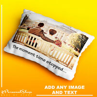 Personalised Photo Pillowcase Cushion Pillow Case Cover Custom Present Message