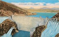Linen Postcard AZ K194 Roosevelt Dam and Lake Arizona Nice Color Kropp Unposted