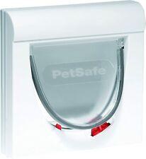 PetSafe Staywell Magnetic Cat Flap 4-Way Locking Durable Frame White Universal