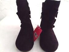GARANIMALS  - Baby/Toddler Size 3, 4, 5 BLACK PREMIUM Booties  Comfy Fur Lined