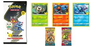 POKEMON ALOLA FIRST PARTNER PACK 3 JUMBOS & 2 BOOSTERS 25th ANNIVERSARY SEALED