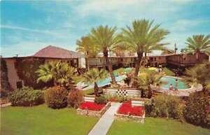 Scottsdale Arizona White Feather Apartments Swimming Pool Postcard AA30784
