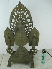 Rarität: Alter Eisen-Buddha & Guan Yin Altar Tibet Privat Sammlung ~ 1950  33cm