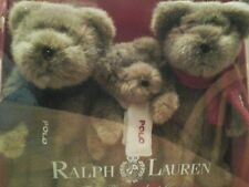 Ralph Lauren Polo Teddy Bears, set of 3, New-in-Box. Incredibly cute! 2001