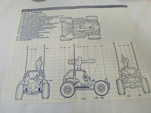 GI Joe ARAH A.W.E. Striker Instructions Blueprints AWE 1985