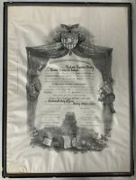 "1933 West Point Diploma US Army Original Period Item Framed Militaria 24.5""x18"""