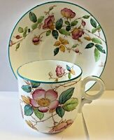 ANTIQUE PEARL WARE * BLUE RIMMED AND FLORALS * GORGEOUS