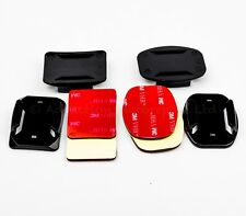 2x casco Plano & Curvo se monta 3 M Almohadillas Adhesivas para GoPro Hero 1/2/3/3 +/4 Cámara