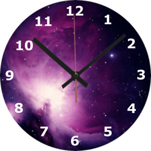 WALL CLOCK SPACE 25cm Nebula Science Stars Kid Bedroom Home Decor Spiritual 878