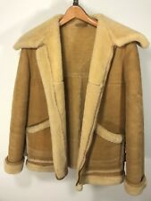 VTG DAVID CHURCH Spring Lamb MARLBORO MAN RANCHER Sheepskin Coat Shearling 38