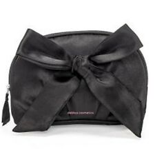 Avon Black Satin Cosmetic/Make up Bag with Bow  Sealed
