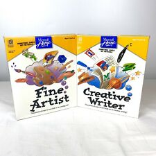 "1994 Microsoft Creative Writer & Fine Artist SEALED Software for Kids 3.5"" Disks"