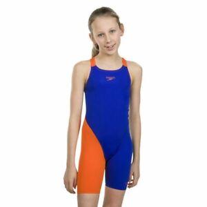 Speedo Junior Girls' Swimsuit Fastskin Junior Endurance+ Openback Kneeskin