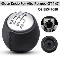 6 Marce Pomello Del Cambio In Pelle Per Alfa Romeo Gt 147 Diesel 166 55347088