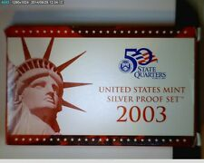 2003-S 1c-$1 Silver Proof Set with box and coa