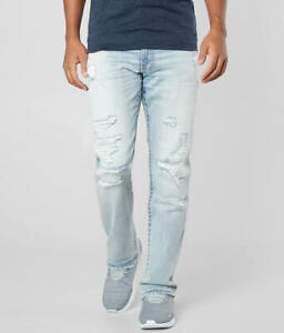 Buckle BKE Jake Straight Stretch Jeans Destroyed 34 X 32