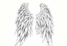 Framed Print - Heavenly Angel Wings (Picture Poster Feathers Hell Gothic Art)