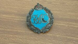 Royal Army Corps Silver Enamelled Badge