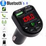 Neu Bluetooth FM Transmitter Auto Radio Audio MP3 Player USB Ladegerät KFZ