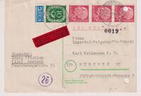 BUND, Mi. 185, Eilkarte Ansbach, 16.4.54