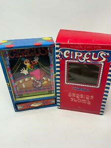 Vintage Circus Dancing Clown Music Box Includes Key and Box