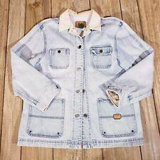 Vintage Ralph Lauren Womens Sz L Safari Outfitters 90's Denim Barn Jacket