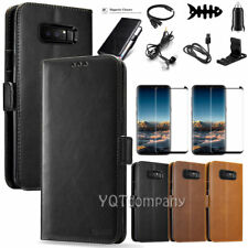 Samsung Galaxy Note 8 Leather Wallet Case with Stand Card Slot Flip Phone Cover