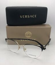 c15e7c128d New VERSACE Eyeglasses MOD. 1247 1252 52-17 140 Black-Gold Semi Rimless