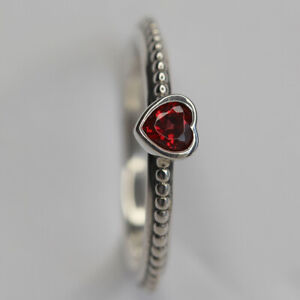 NEW AUTHENTIC PANDORA RING ONE LOVE RED CZ MULTIPLE SZ 190896SGR W SUEDE POUCH