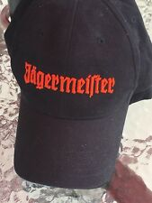 Jagermeister Black Cap Orange Stag Logo (100% Cotton, Strapback Hat)