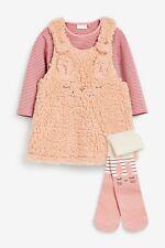 Next Baby Girls Bunny Rabbit Pinafore Dress Top & Tights 12-18 Months