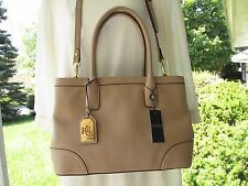 Lauren Ralph Lauren Fairfield City Shopper Stone Leather Satchel/Hand Bag NEW
