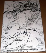 Witchblade #125 Michael Turner B&W Variant Signed Marz Top Cow Fantastic Realm