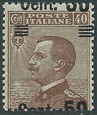 1923-27 REGNO EFFIGIE SOPRASTAMPATO 50 SU 40 CENT VARIETà MNH ** - P47-6