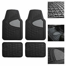 Car Floor Mats for Auto Car SUV 4pc Set All Weather Semi Custom Fit Black Gray