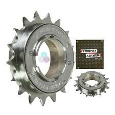 """Sturmey Archer Single Speed Freewheel Cog Chrome 1/2""""x 3/32"""" & 1/8"""", 16T Narrow"""