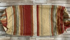 Pottery Barn Serape Stripe Linen Cotton Blend Bolster Pillow Cover 10 X 27