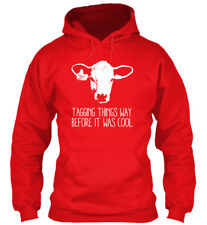 Cow Tagging Stock Show Girl - Things Way Before It Was Standard College Hoodie
