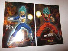 Dragon Ball Super Metallic Sheet Super Saiyan Blue Goku Vegeta Foil Mini Posters