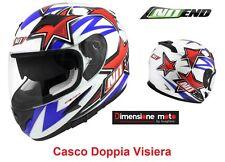 Casco Integrale Doppia Visiera NO-END Colore Star by OCD Patriot Taglia M 58 cm