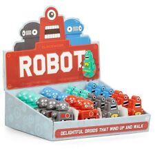 CLOCKWORK ROBOT - 23074 ASSORTED COLOURFUL FUN KIDS TOY WIND UP AND WATCH!