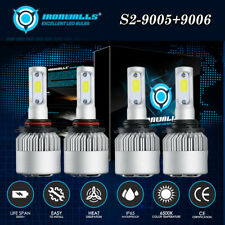 Hi/Lo Combo 9005 9006 LED Headlight Bulbs for Chevy Silverado Tahoe 1995-2006 US