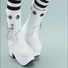 Dollmore 1/4 BJD MSD - Star Chain Boots (White) shoes