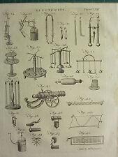 1797 georgiano impresión ~ electricidad ~ diferentes diagramas equipos Aparatos Etc