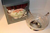 International Silver -Silver plated & Crystal 3pc Salad Bowl Set (#99110350)