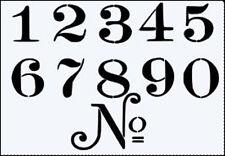 Elegante numeri Ri Utilizzabile 190m MYLAR Stencil-a5-I numeri di circa 3.5cm di altezza